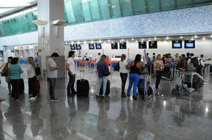 Moradora de Tocantinópolis foi barrada no aeroporto de Palmas na hora em que fez o check-in (Foto: Márcio Vieira/Procon)