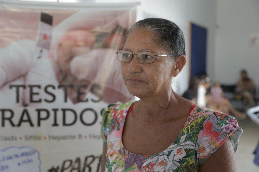 Dona Maria Antônia Alves de Sousa, de 55 anos, foi marcar consulta dos seus exames de rotina na unidade básica de saúde do Setor Vila Aliança e aproveitou para fazer o teste rápido para hepatites virais