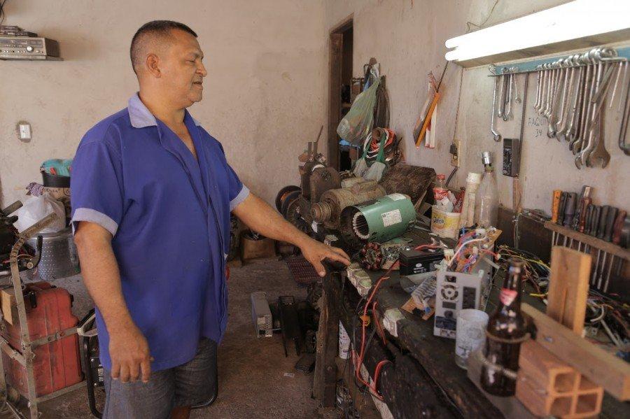 """""""O serviço que chega aqui, não volta sem funcionar"""", afirma Manoel Bezerra"""