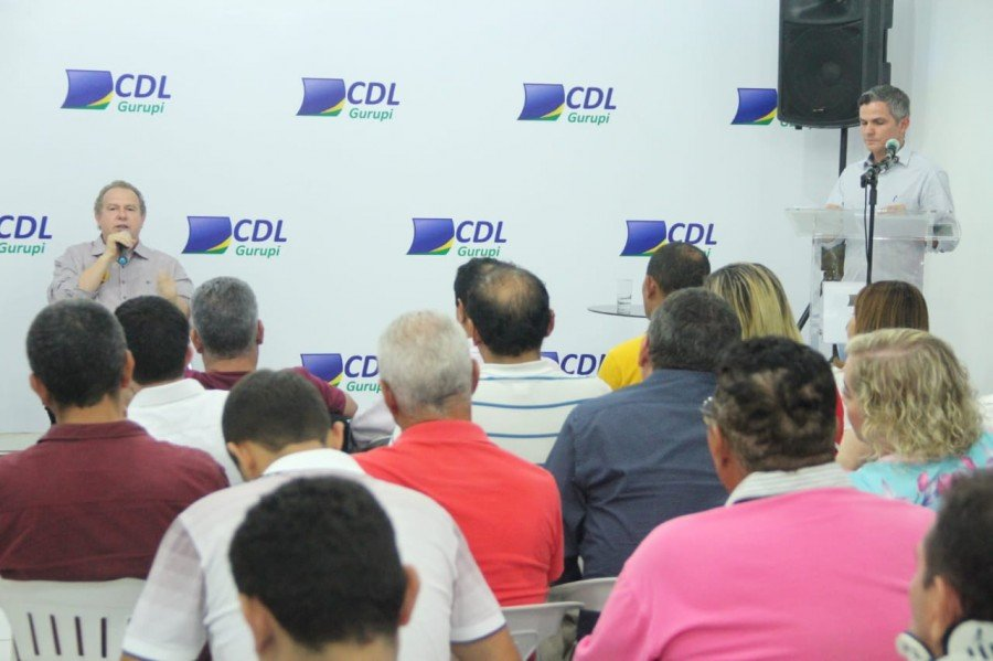 Governador Mauro Carlesse, em encontro promovido pela Câmara de Dirigentes Lojistas (CDL) de Gurupi