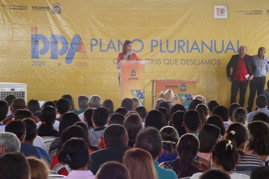 As ações foram realizadas durante a abertura da consulta pública para o PPA da região, realizada na Escola Estadual Aldinar Gonçalves Carvalho, em Araguatins