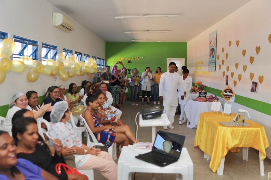 Alunos promoveram atividades de interação e informação para as gestantes do município de Sítio Novo do Tocantins