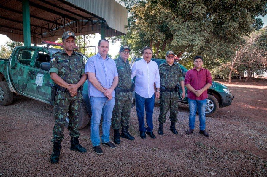 Prefeito Laurez garante doação de área para a Polícia Militar Ambiental em Gurupi (Foto: Marcos Veloso/Secom)