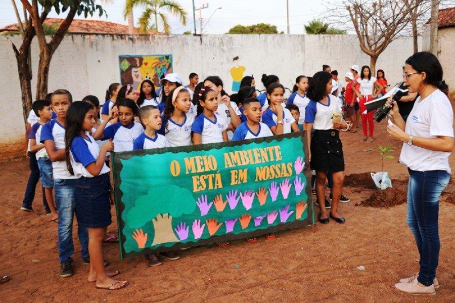 Ações de educação ambiental do programa Educa Sanear foram realizadas em São Bento (Foto: Lidiane Moreira)