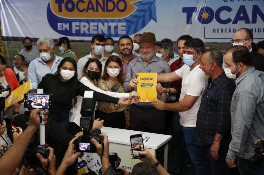 Governo do Tocantins e gestores municipais assinam convênios do programa Tocando em Frente e Pró-municípios (Foto: Marcio Vieira)