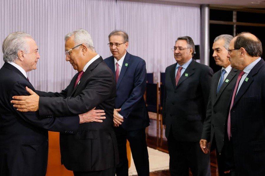 Marcelo Miranda disse que o presidente Michel Temer mostrou-se muito interessado em ajudar os estados na questão das dívidas com o BNDES (Foto: Beto Barata)