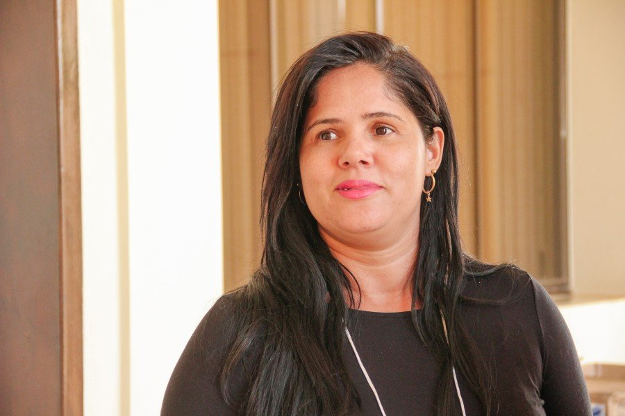 Amanda Alves Campos, secretária municipal de Assistencia Social de São Salvador (Foto: Carlessandro Souza)