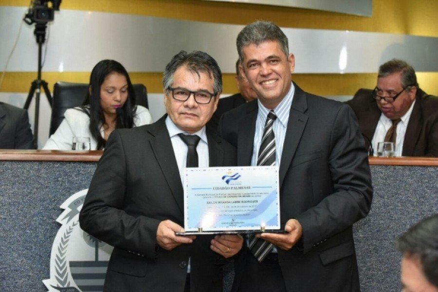 Procurador-geral do MPC/TO recebe título de Cidadão Palmense