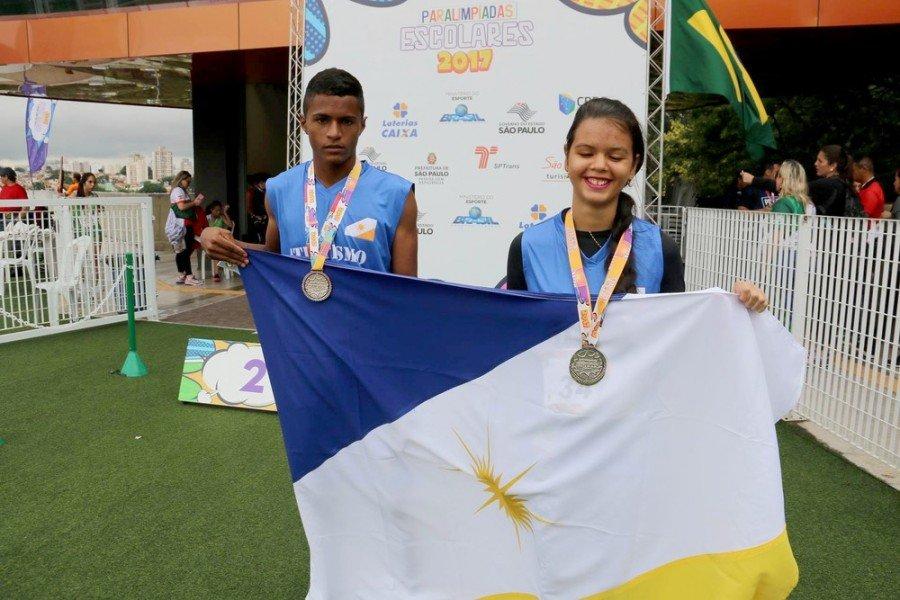 A cada ano, cresce o desempenho de atletas paralímpicos tocantinenses, nos jogos escolares (Foto: Mateus Oliveira)