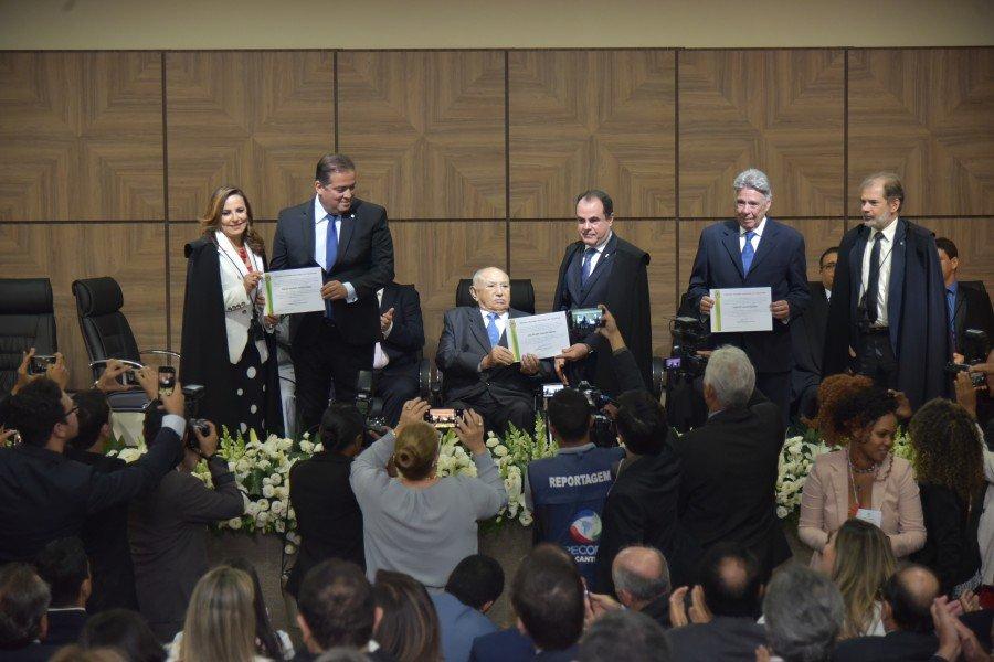 Diplomação dos Senadores eleitos (Foto: Lucas Nascimento)