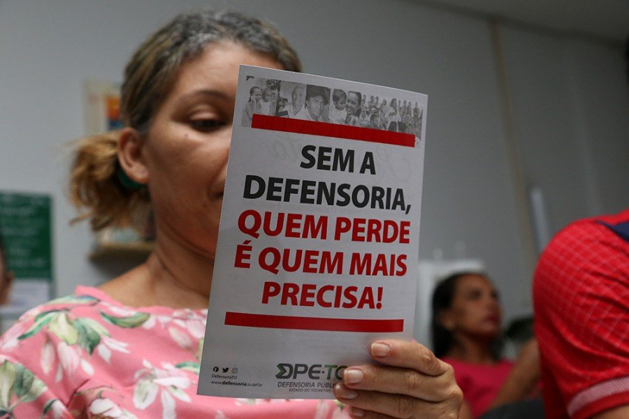 """""""Quem perde sem a Defensoria?"""" foi pauta da DPE com pessoas em Araguatins, Tocantinópolis (Foto: Loise Maria)"""