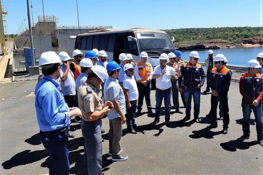 Participantes do Workshop visitam instalações da UHE de Estreito