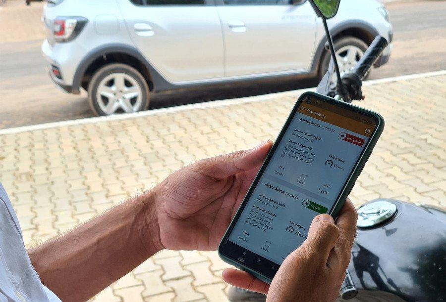 Por um aplicativo de celular o monitoramento da frota poderá ser realizado em tempo real (Foto: Divulgação)