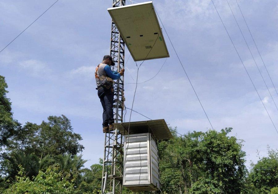 No Cantão, o projeto é totalmente sustentável, utilizando placas solares para captação de energia (Foto: Divulgação/ATI)