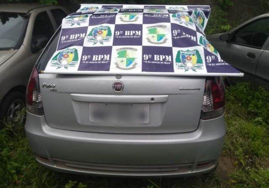 Veículo apreendido pela PM no centro da cidade de Augustinópolis