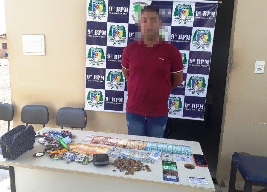PM prende estelionatário com quase 1,8 mil reais subtraídos de comerciantes da cidade