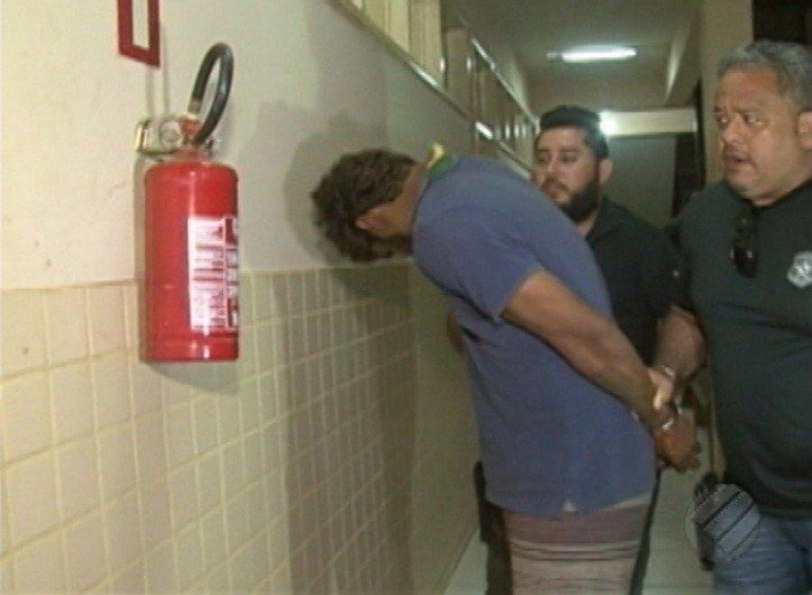 Suspeito de ter matado apresentador de TV foi transferido para Altamira, no sudoeste do Pará (Foto: Reprodução/TV Liberal)