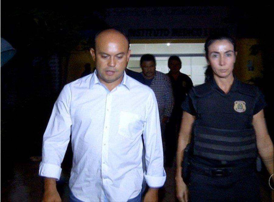 Ex-governador Sandoval foi preso na primeira fase da operação Ápia (Foto: Reprodução/TV Anhanguera)