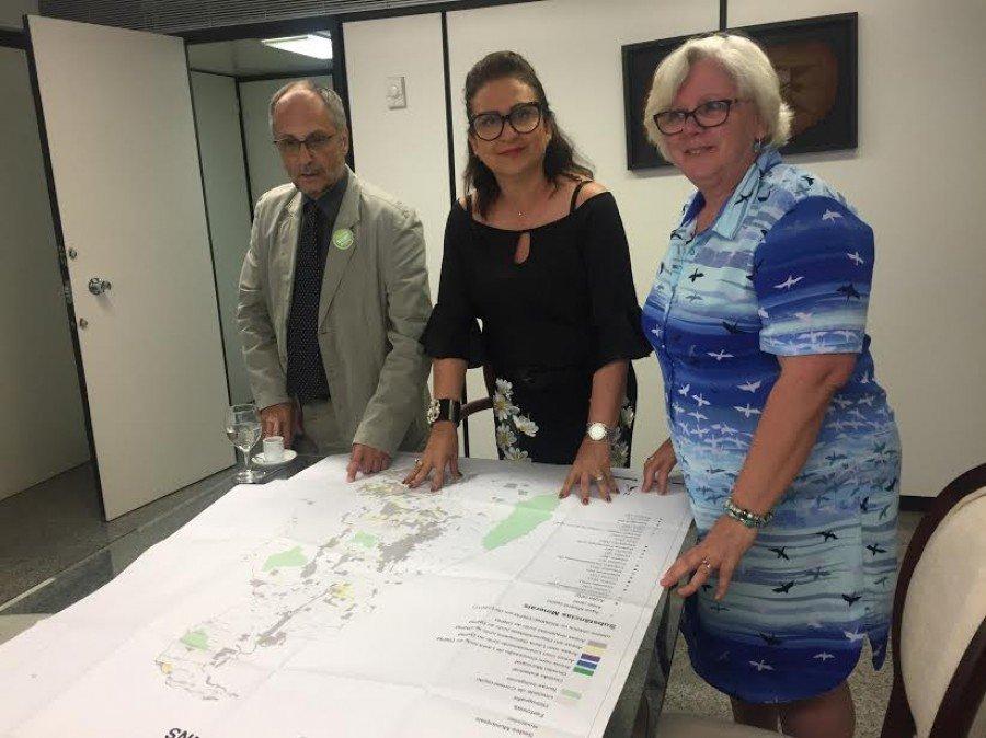 Senadora discutiu o potencial do setor mineral do estado com diretor do CPRM, em Brasília (Foto: Divulgação)