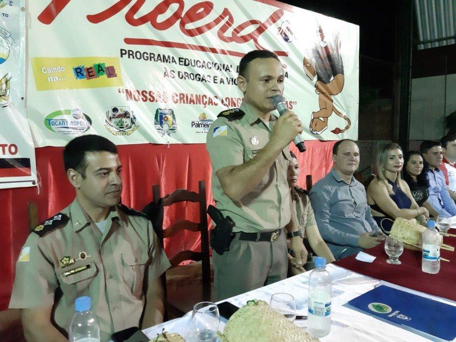 Comandante da unidade reforça a necessidade de prevenção às drogas