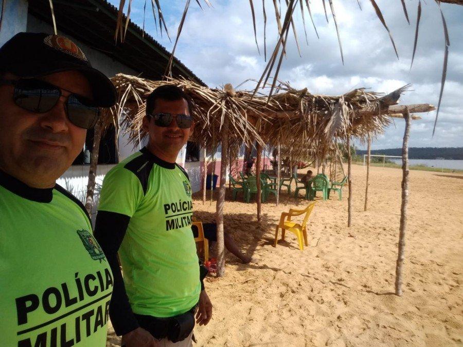 Policiamento da Praia de Darcinópolis