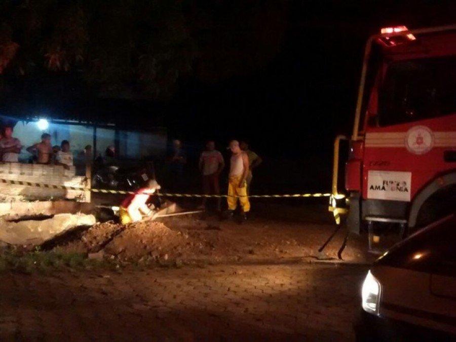 Resgate durou aproximadamente duas horas (Foto: Divulgação/Corpo de Bombeiros)