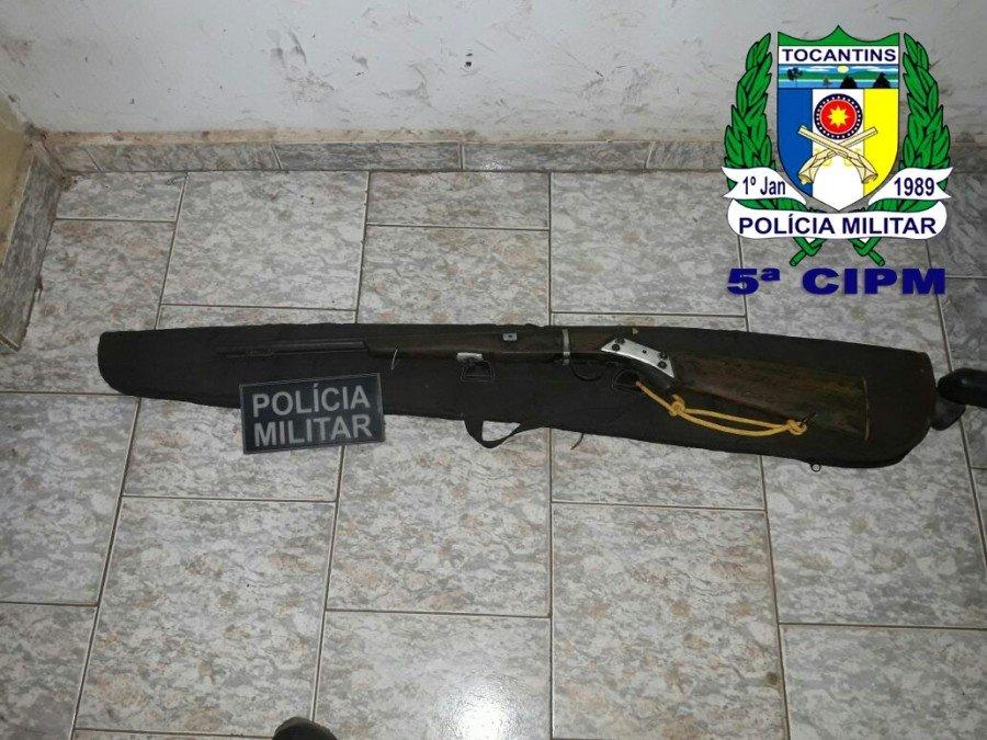 PM apreendeu arma de fogo que estava em posse de 2 suspeitos em Santa Terezinha