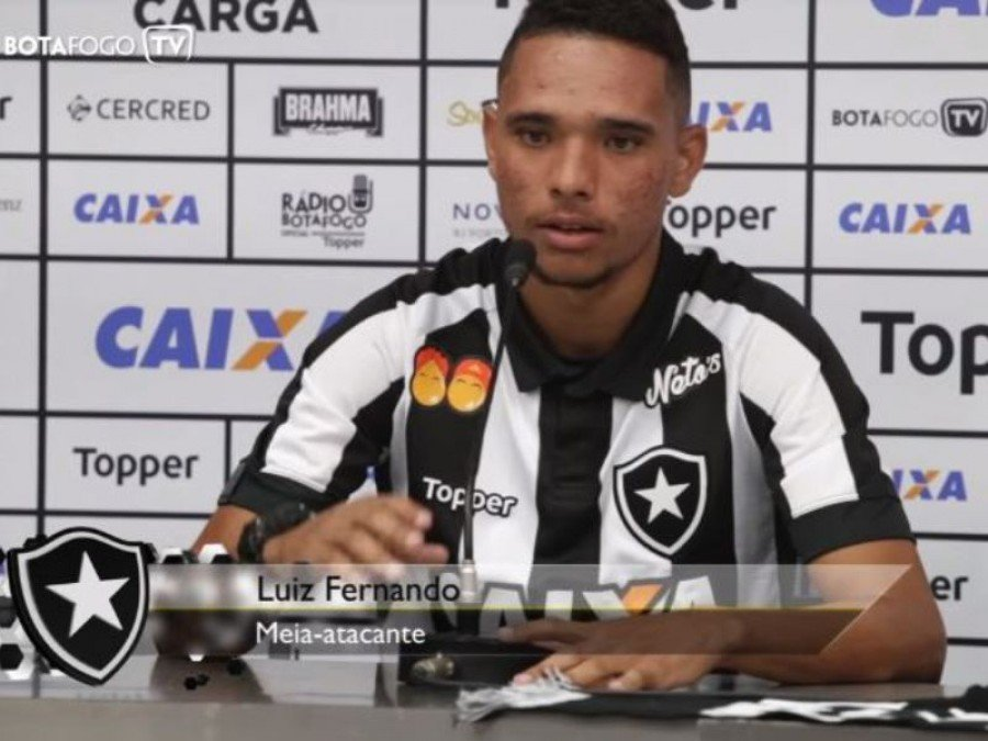 Botafogo apresenta o atacante Luiz Fernando, de 21 anos