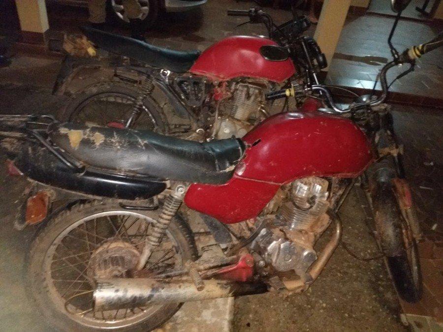 Motocicletas usadas por criminosos (Foto: Divulgação PMTO)