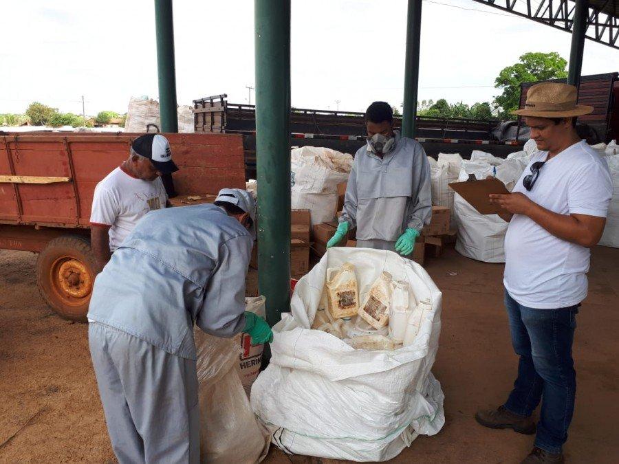 Recebimento Itinerante em Augustinópolis e Miranorte recebem mais de 4,5 mil embalagens de agrotóxicos (Foto: Divulgação Adapec)