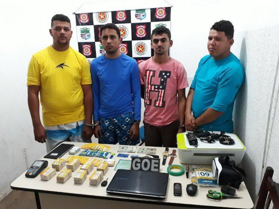 Suspeitos foram presos neste domingo (5) no município de Governador Edison Lobão (MA). (Foto: Divulgação/Polícia Militar do Maranhão)