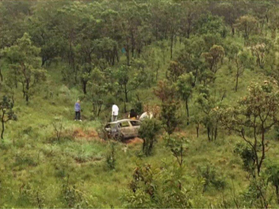 Carro de empresário foi encontrado carbonizado em Taquaruçu
