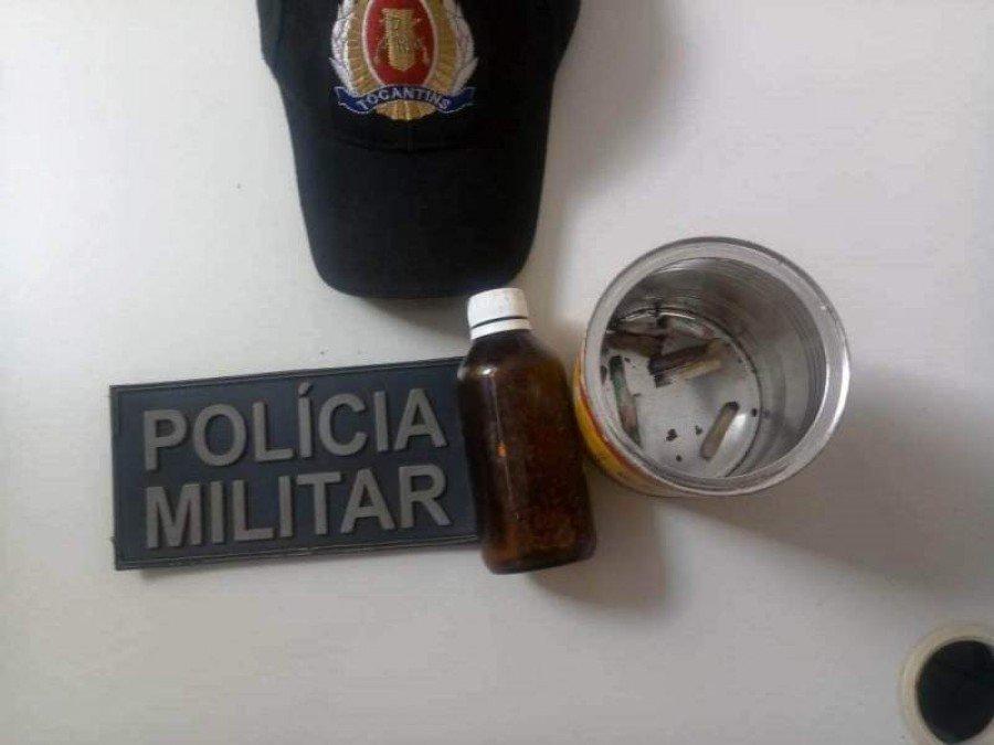 Objetos apreedidos pela PM em poder dos acusados em Araguatins