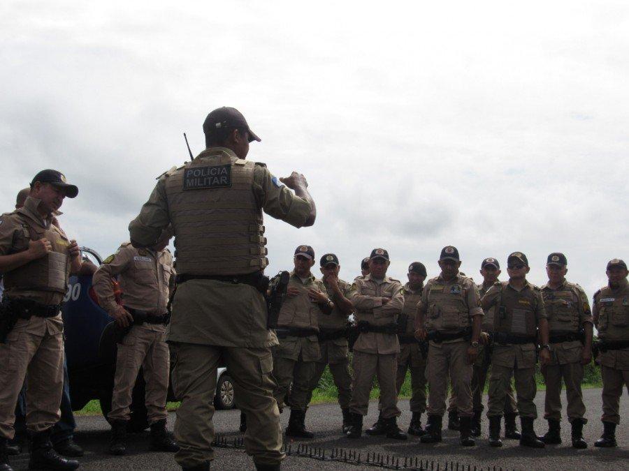 Em ação preventiva policiais de Tocantinópolis e Ananás recebem curso de Cerco e Bloqueio Policial