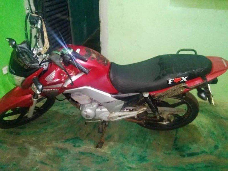 Moto apreendida pela PM em Maurilândia