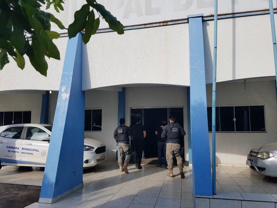 Buscas foram realizadas na Câmara de Vereadores de Porto Nacional