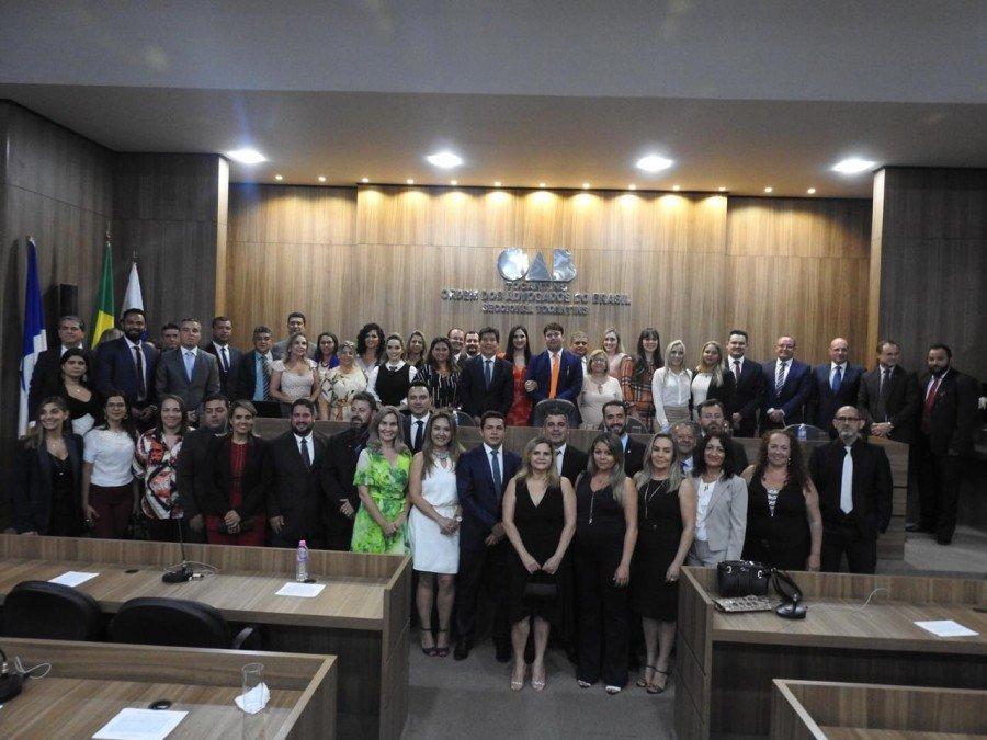 Novos conselheiros Seccionais e diretores empossados (Foto: J. Pires)