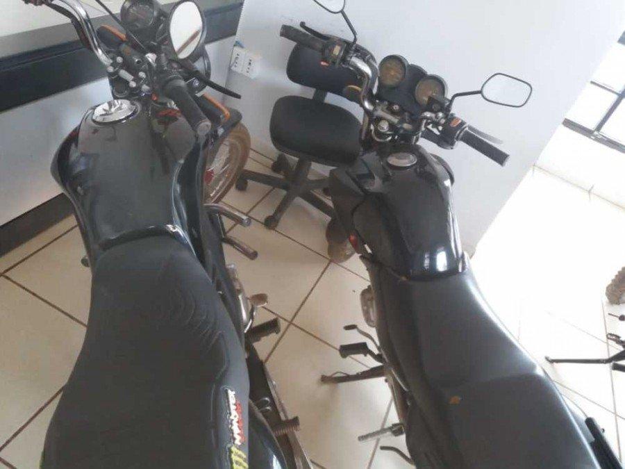 Motocicletas apreendidas pela Polícia Civil