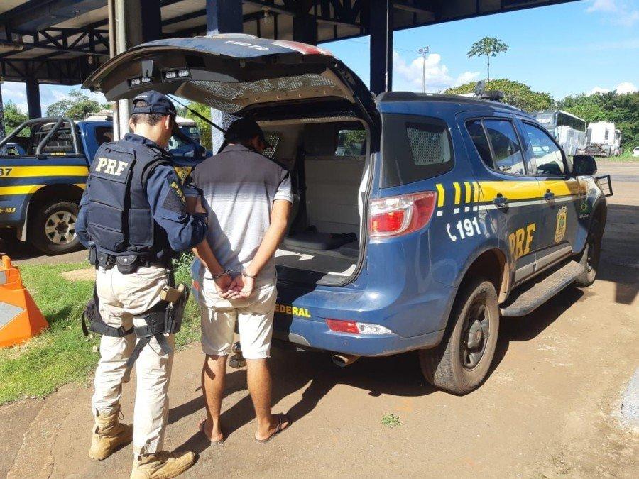 Polícia Rodoviária Federal cumpriu mandado de prisão e prendeu traficante em Aguiarnópolis