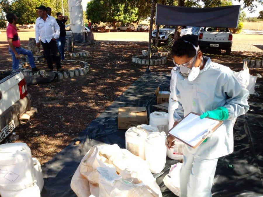 Agricultores devolvem cerca de 4 mil embalagens vazias de agrotóxicos durante recebimento itinerante nos municípios de Araguatins, Augustinópolis, Buriti  e Dianópolis