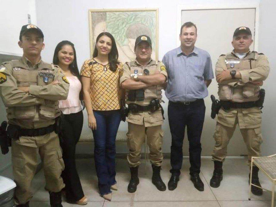 9º BPM realizou visita cidadã no Hospital Regional de Augustinópolis (Foto: Divulgação / 9º BPM)