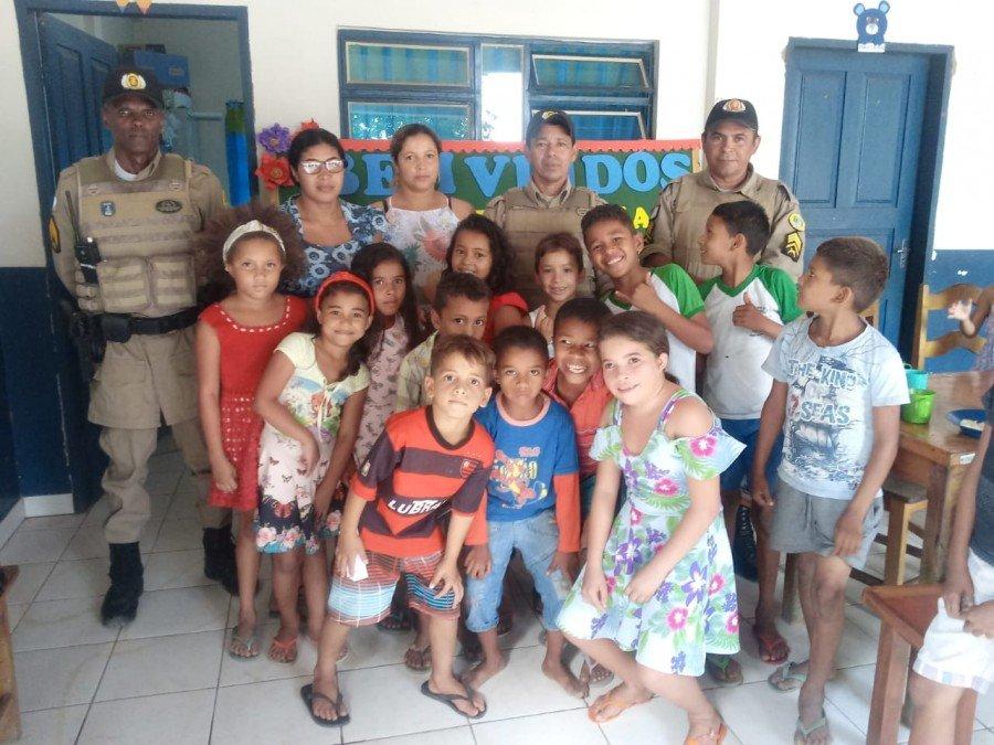 9º BPM realizou 15 visitas cidadã e solidárias nesta quinta-feira 29, na região do Bico do Papagaio