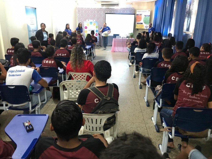 Na Diretoria Regional de Araguatins ocorreu o aulão inaugural do Conexão Saeb.TO (Foto: Divulgação/Seduc)