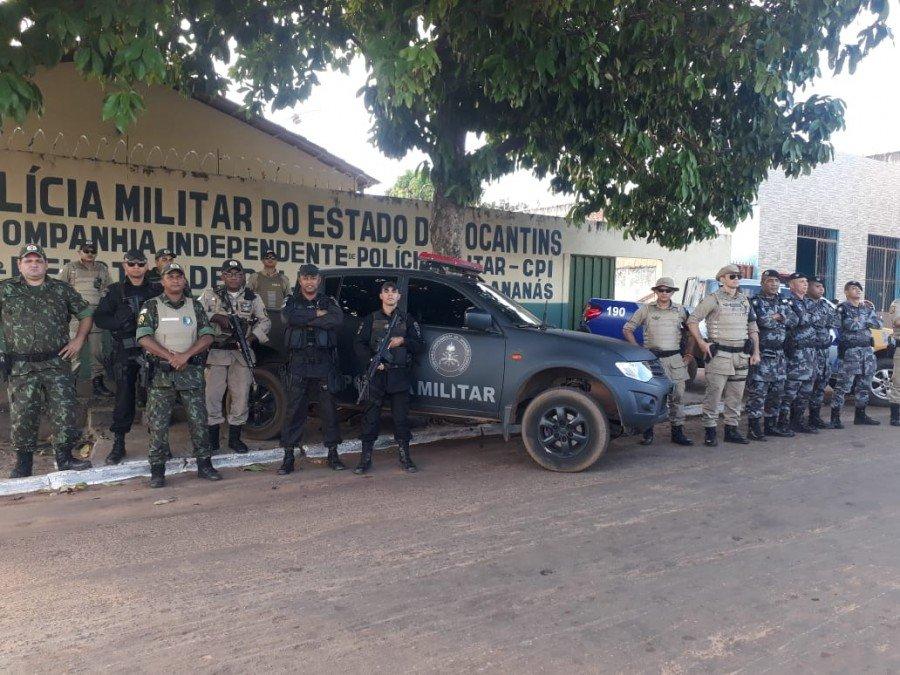 Policiamento em Ananás e região