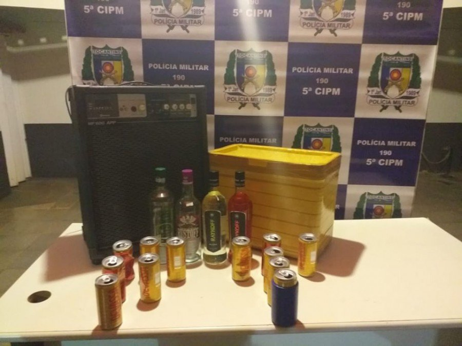 Bebidas alcoólicas dadas a menores foram apreendidas pela PM em Tocantinópolis