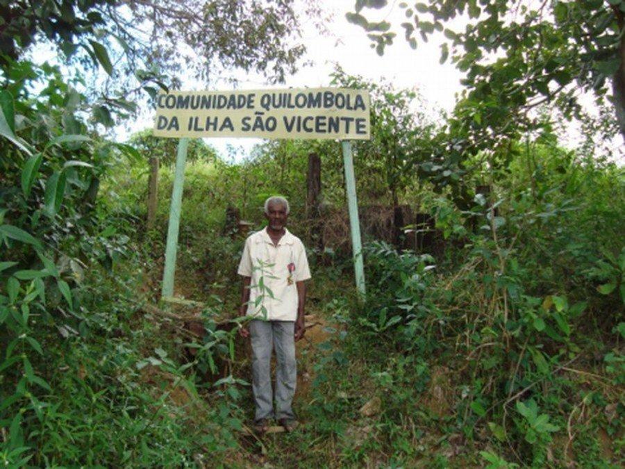 Líder da comunidade quilombola Ilha de São Vicente comprovou parentesco com escravos (Foto: Herbert Levi/Incra)