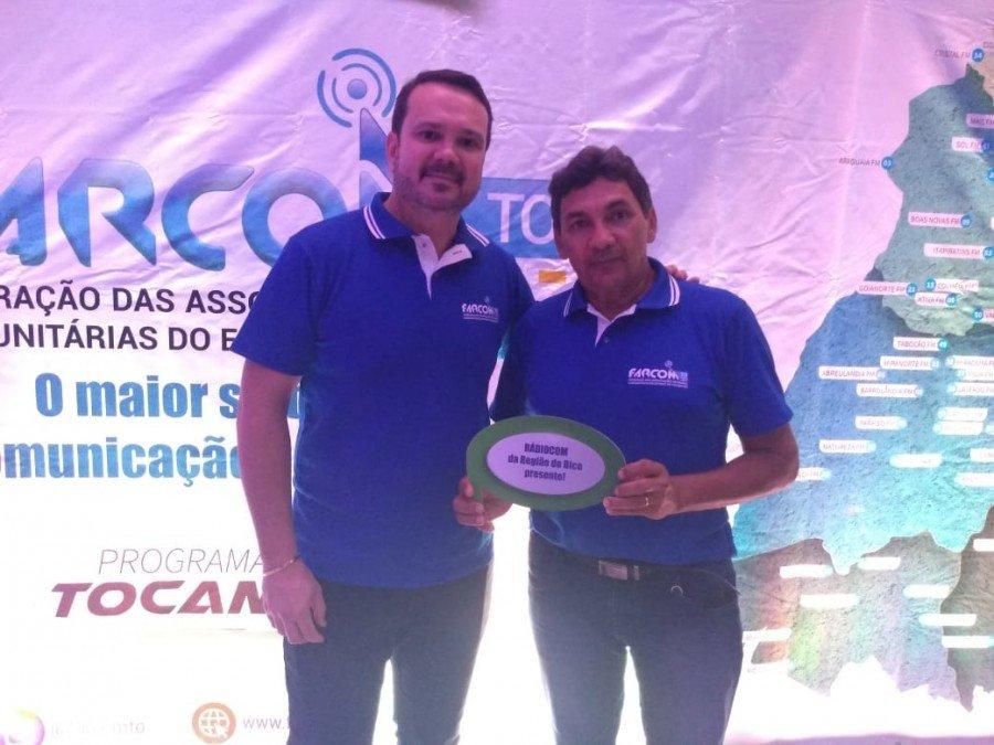 Vice presidente da FARCOM/TO, Getúlio Carneiro (d), ao lado do presidente, Geraldo Freitas (e) (Foto: Divulgação)