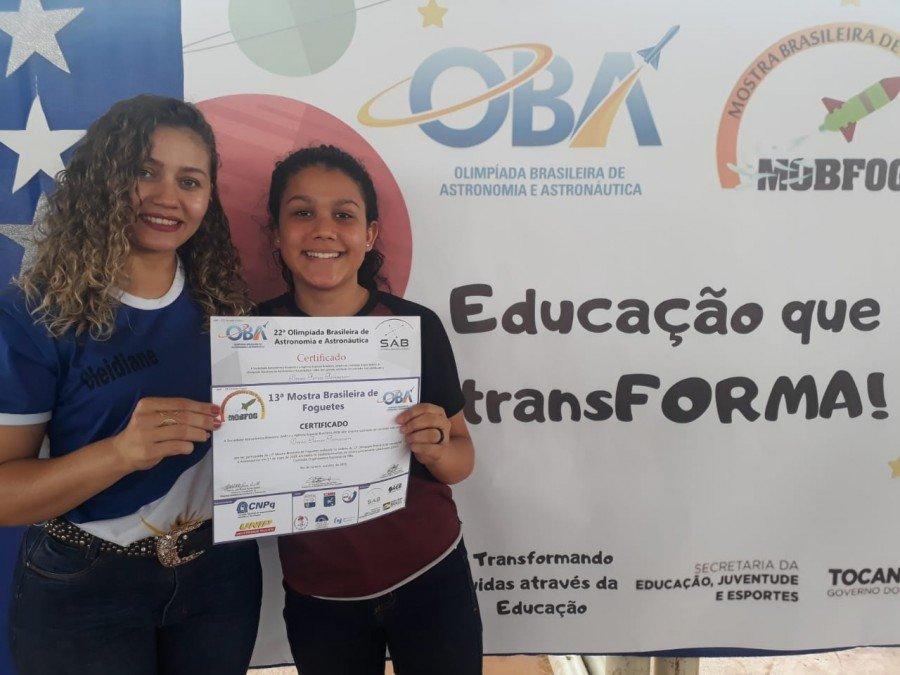 Colégio Estadual Osvaldo Franco entrega aos alunos certificados da Olimpíada Brasileira de Astronomia e Astronáutica, e da Mostra Brasileira de Foguetes