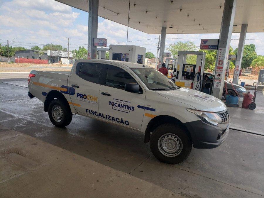 Posto em Miracema do Tocantins foi autuado pelo Procon pelos reajustes de preços em todos os combustíveis ( Foto: Divulgação/Procon)