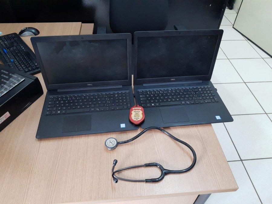 Notebooks e aparelho hospitalar furtados de loja e avaliados em mais de R$ 11 mil reais são recuperados pela Polícia Civil em Araguaína